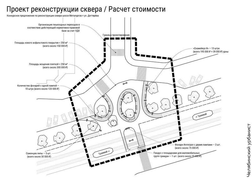 «Сделали за два дня»: по проекту челябинского урбаниста благоустроят сквер    1