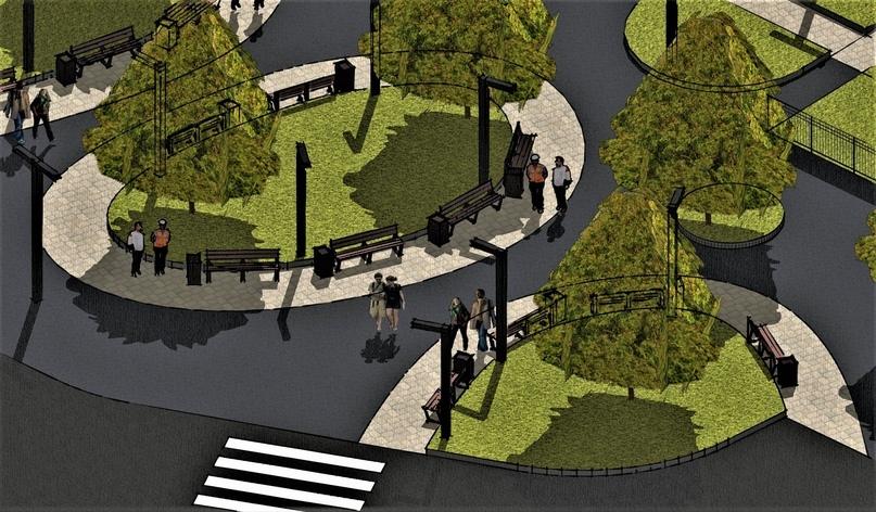 «Сделали за два дня»: по проекту челябинского урбаниста благоустроят сквер    2