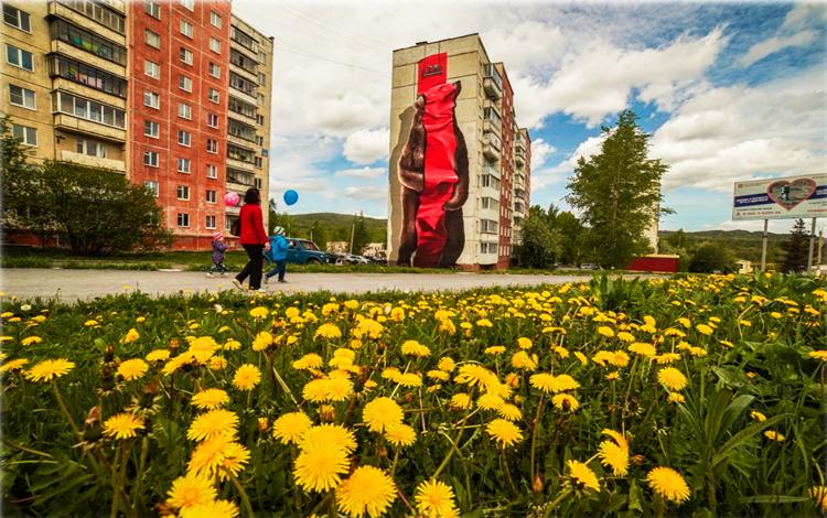 Разрисованные многоэтажки в Челябинской области оценили минстрое России 1