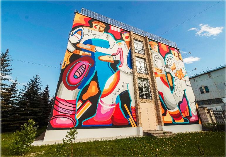 Разрисованные многоэтажки в Челябинской области оценили минстрое России 2
