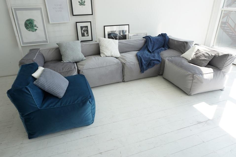 Меняй обстановку с модульным бескаркасным диваном «Ай Диво» хоть каждый час! 5