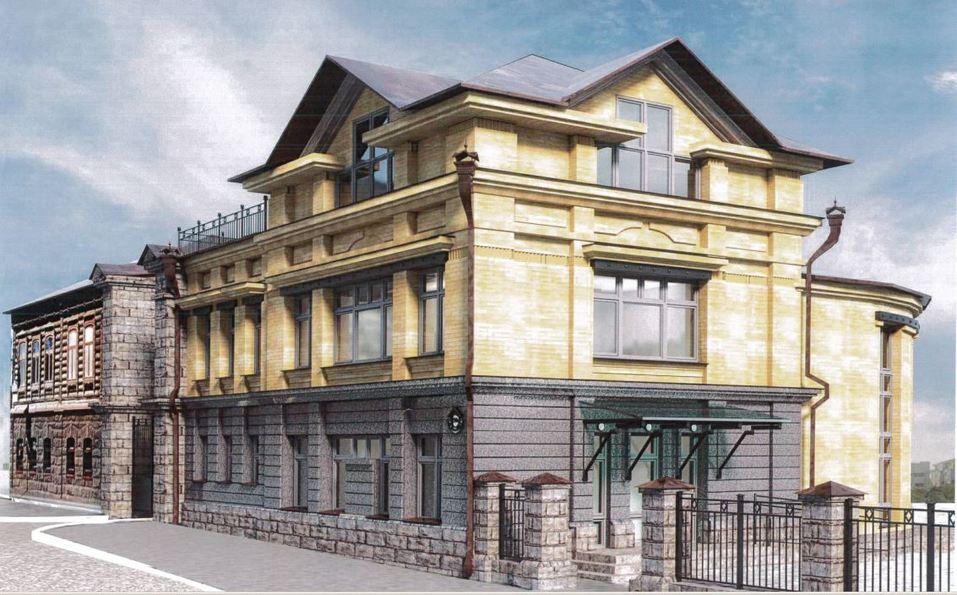 В центре Челябинска предприниматель строит к ШОС стилизованный «под старину» особняк 2