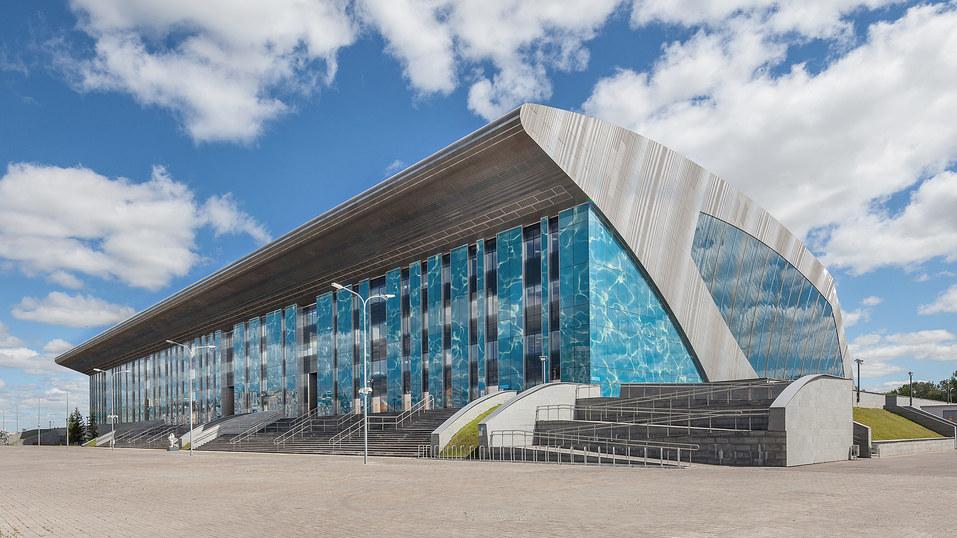 Здание Дворца водных видов спорта