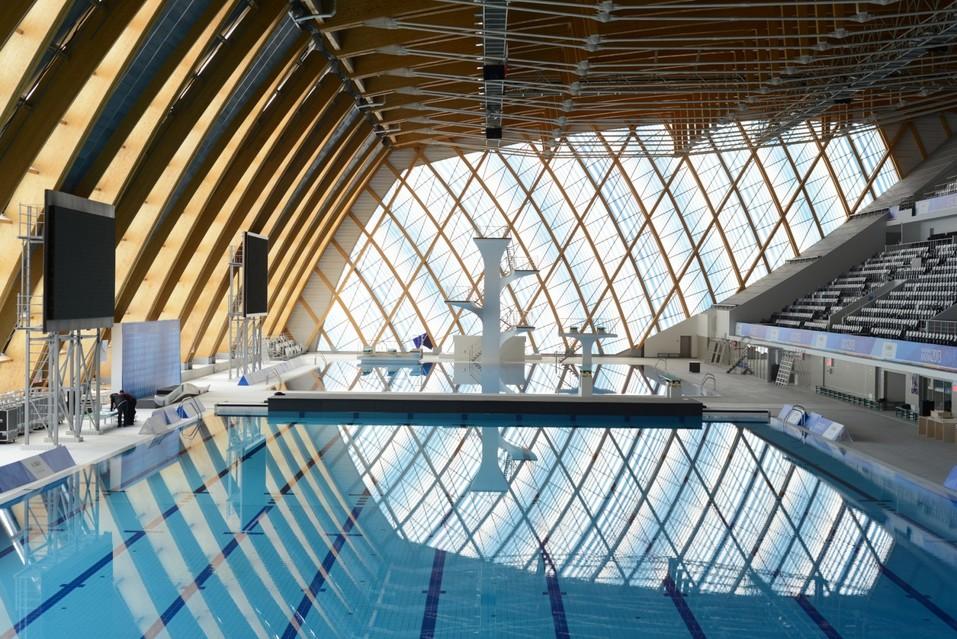 Интерьеры дворца водных видов спорта