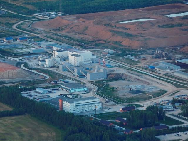 Действующее золотодобывающее производство «Полиметалл» в Воронцовке