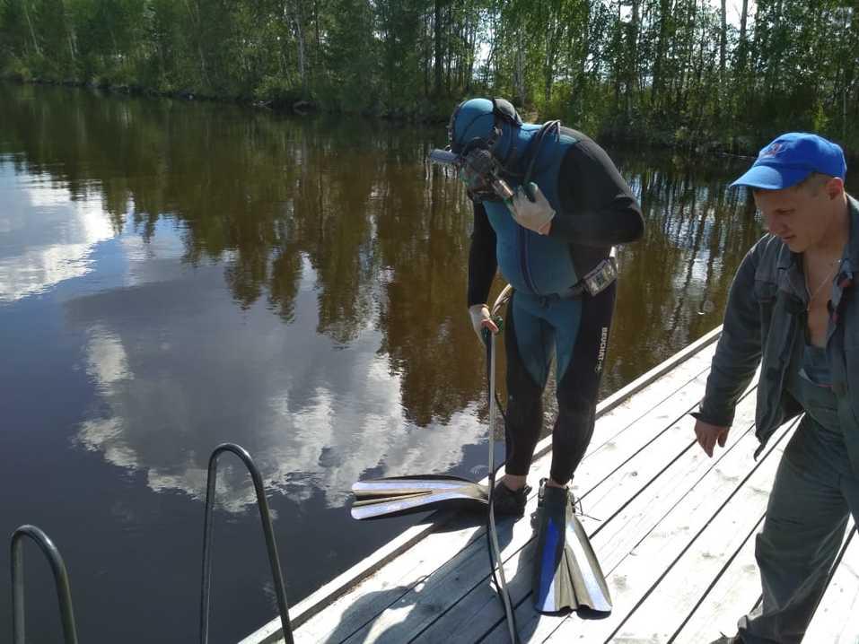 Оценка водоема промышленным водолазом