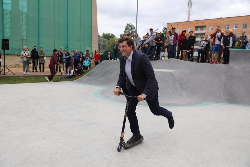 Глеб Никитин открыл скейт-парк в Выксе 1
