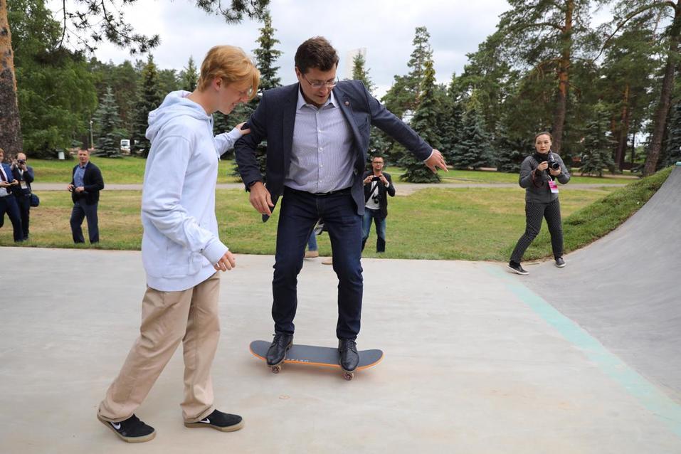 Глеб Никитин открыл скейт-парк в Выксе 2