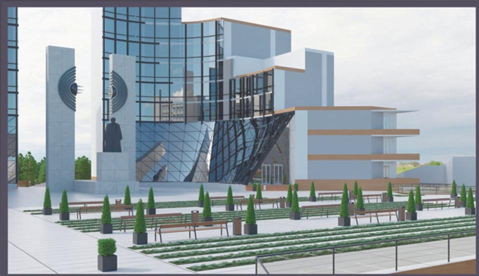 В Челябинске хотят переделать ТК «Курчатов» в хайтек-музей с 8-этажными корпусами 1