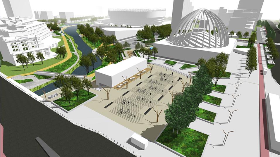 Обновленная площадь перед цирком