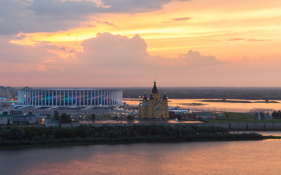 Вид из окна AZIMUT Отель Нижний Новгород