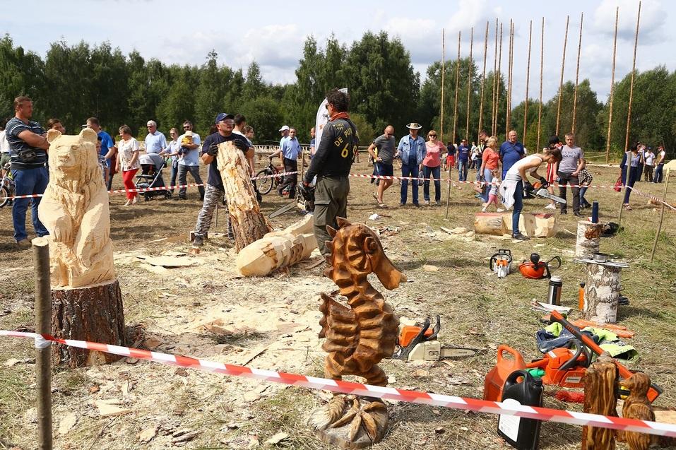 «Брутально, мужественно и красиво». Как лесорубы соревновались под Нижним Новгородом. ФOTO 1