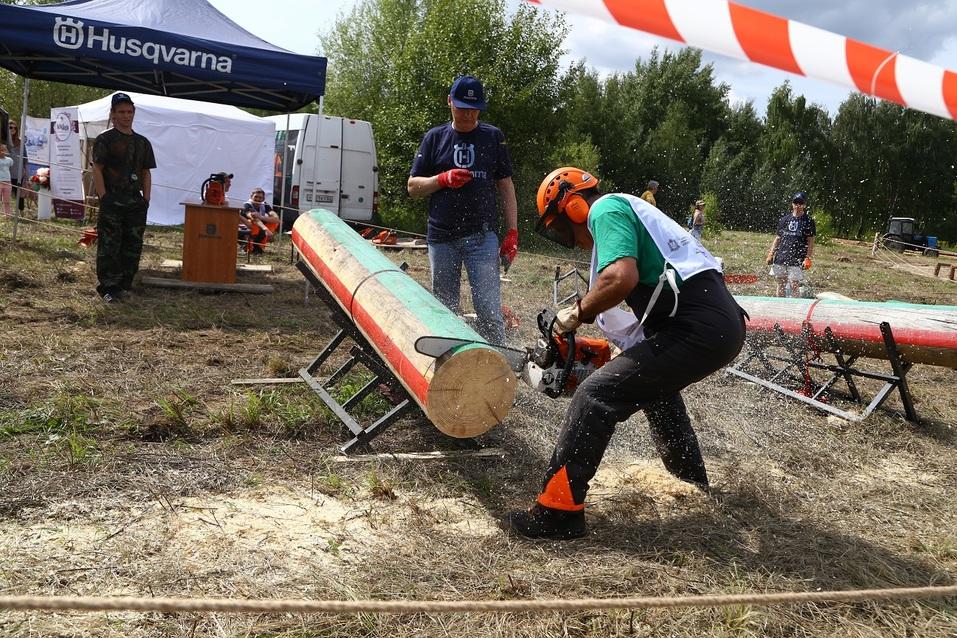 «Брутально, мужественно и красиво». Как лесорубы соревновались под Нижним Новгородом. ФOTO 8