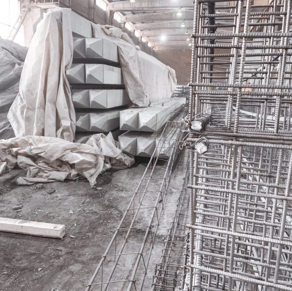 Свайная продукция завода ЖБИ Нейва