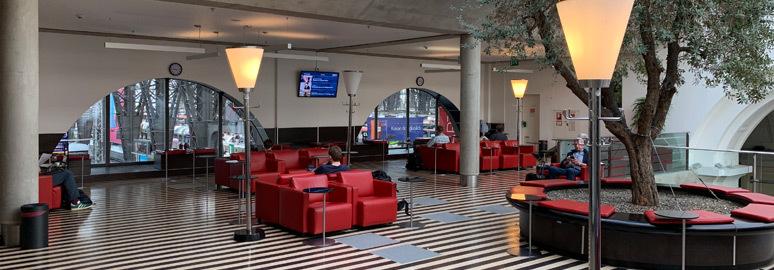 бизнесс-зал на жд вокзале Франфурта-на-Майне