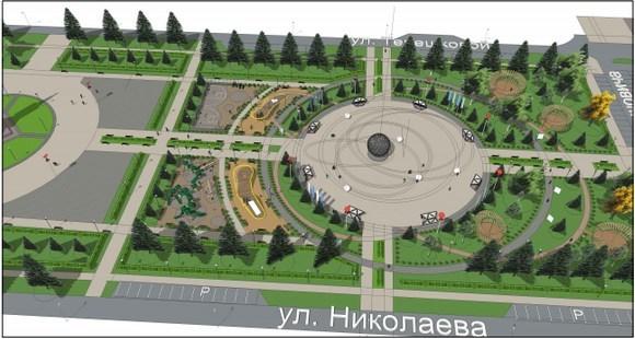 В Красноярске завершилась реконструкция сквера Космонавтов 2