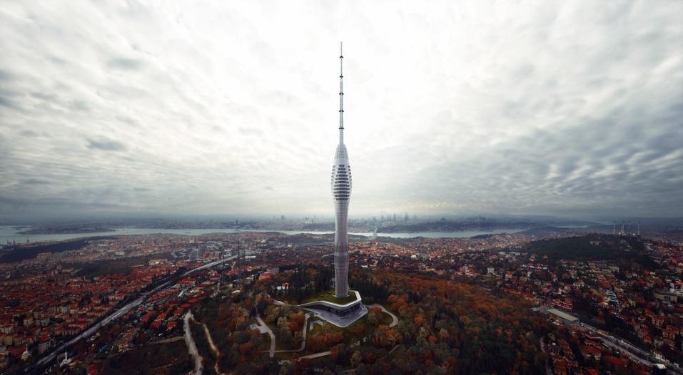 телевизионная башня в Стамбуле