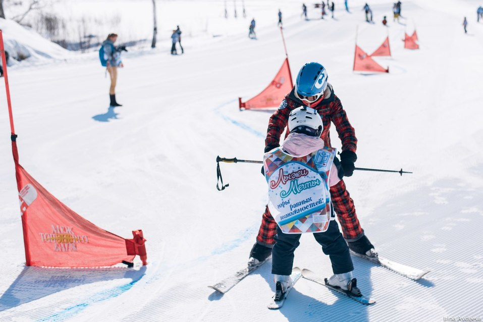 """Дети проходят программу """"Лыжи мечты"""""""