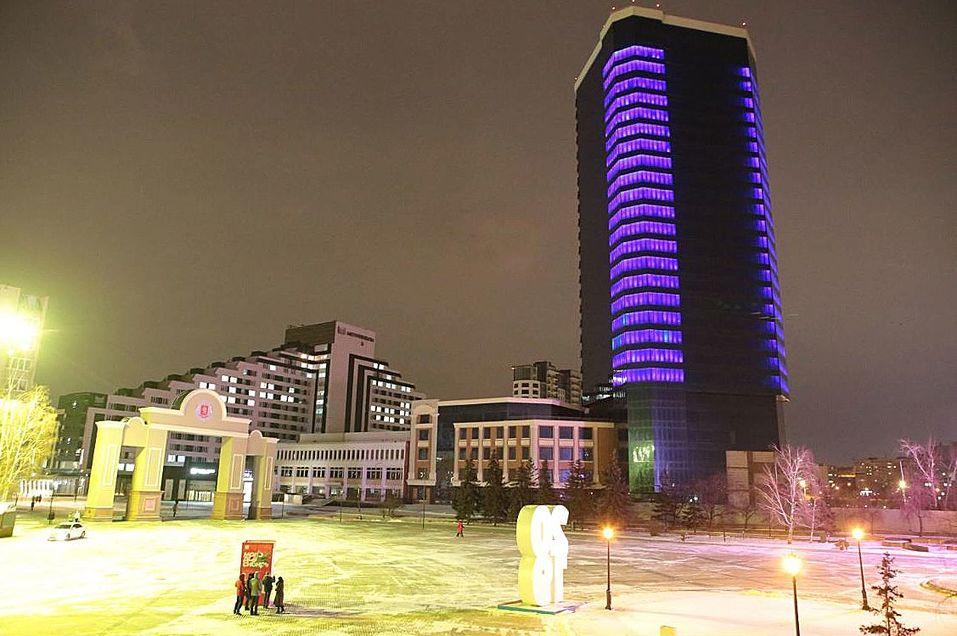 «Башня Саурона» в Красноярске заиграла новыми красками     1