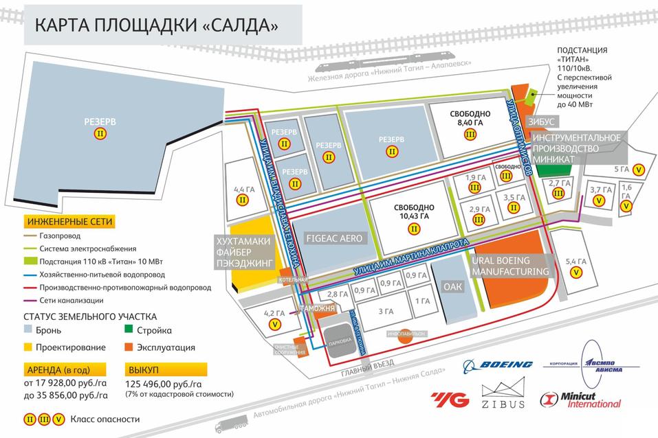 Карта площадки «Салда»