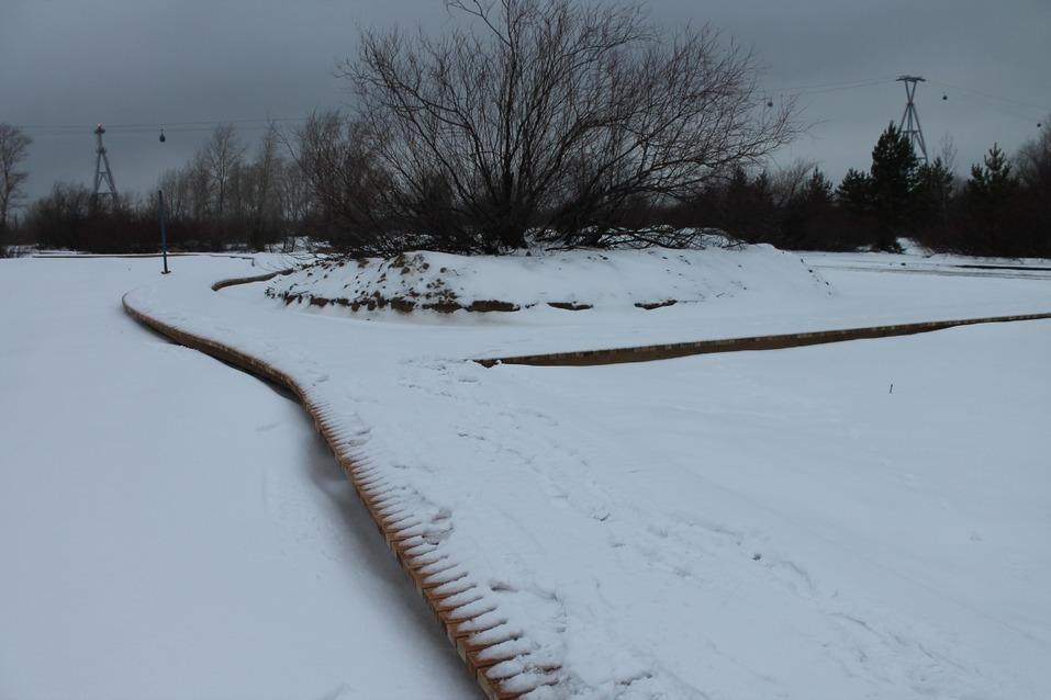Пляж к Новому году. Сорвавший сроки подрядчик обещал благоустроить Гребной канал в декабре 2