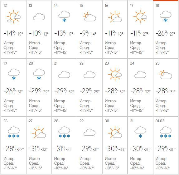 Крещенские морозы придут в Красноярск до конца февраля   1