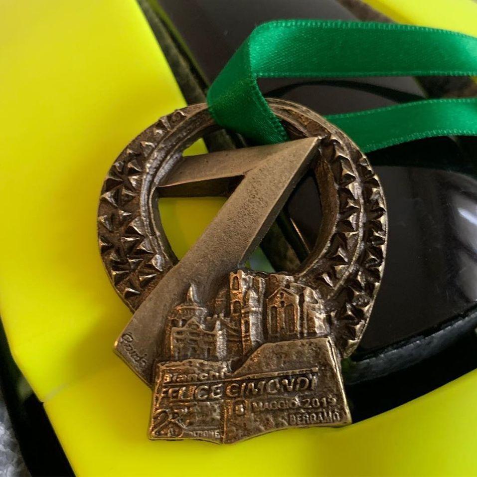 Медаль за участие в соревнованиях в Италии