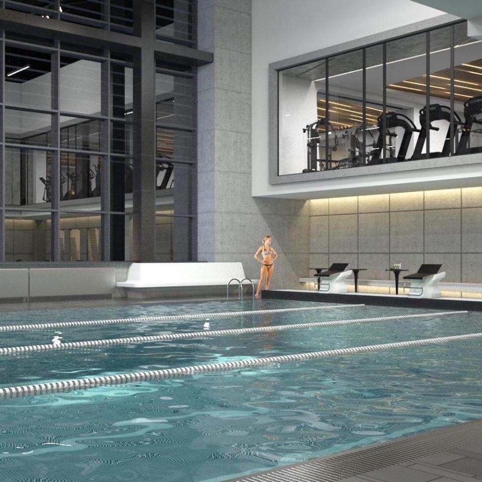 Сеть Bright Fit откроет двухуровневый фитнес-клуб с бассейном в квартале айтишников 1
