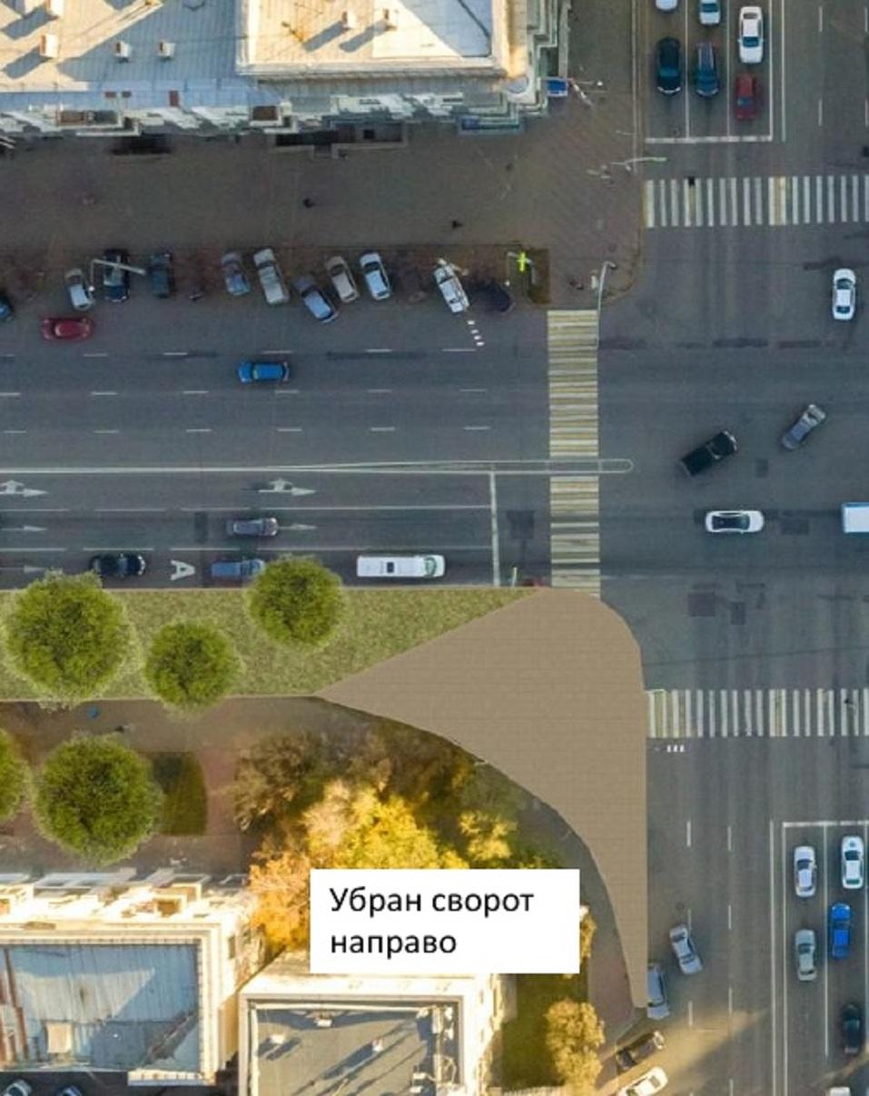 На проспекте Ленина в центре Челябинска планируют убрать правый поворот и построить сквер 2
