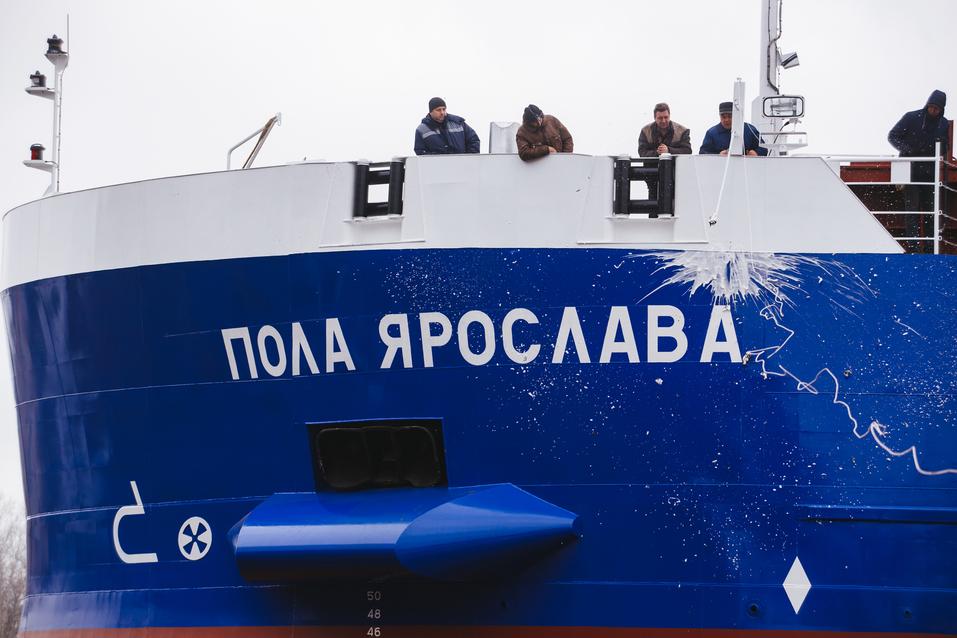 Завод «Красное Сормово» спустил на воду сухогруз «Пола Ярослава» 1