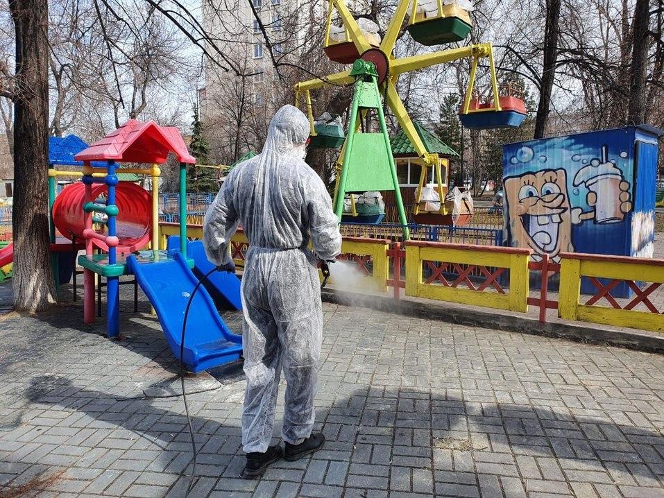 Челябинск начали обрабатывать перекисью водорода 1