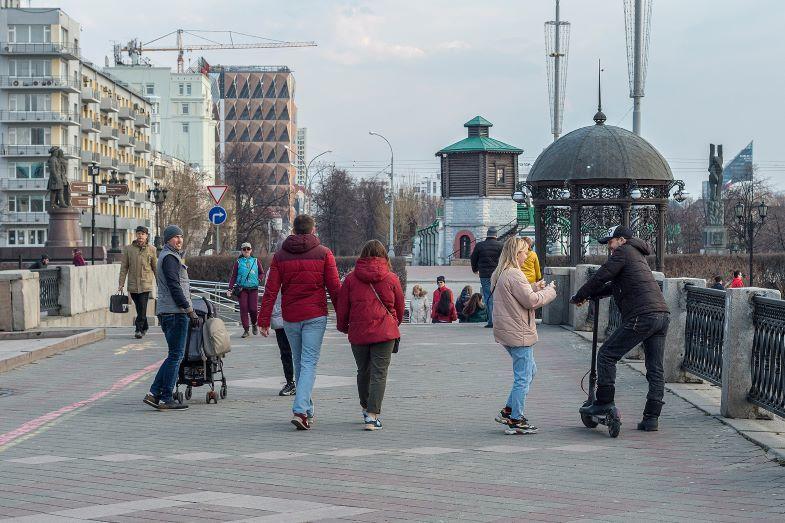 Люди в центре Екатеринбурга