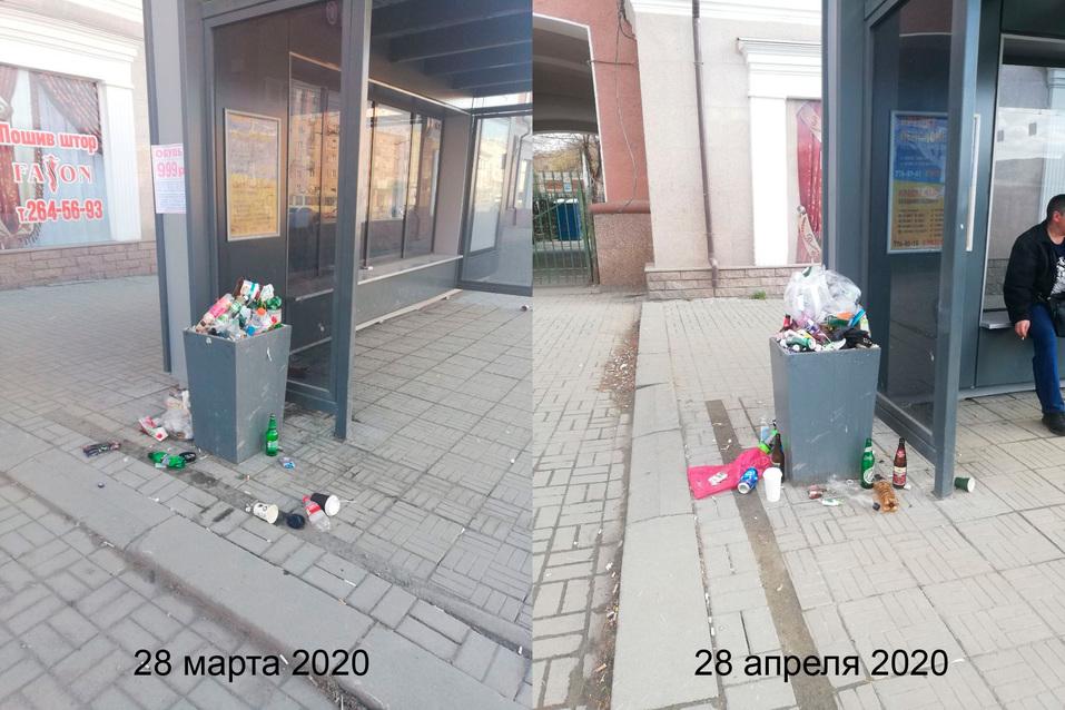 В Челябинске мэрия отчиталась о завершении мытья остановок. Общественники: «Они грязные» 2