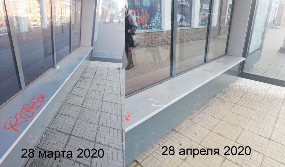 В Челябинске мэрия отчиталась о завершении мытья остановок. Общественники: «Они грязные» 3