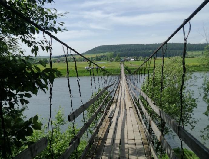 Подвесной мост над Сылвой
