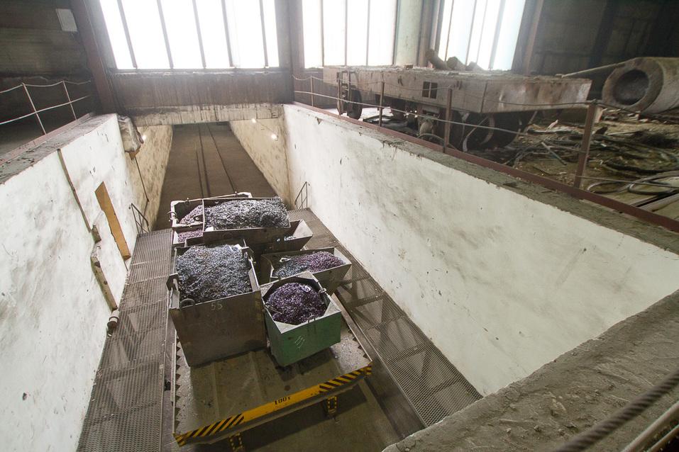 Технологический подземный туннель между цехами