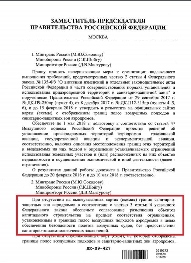 письмо Дмитрия Козака