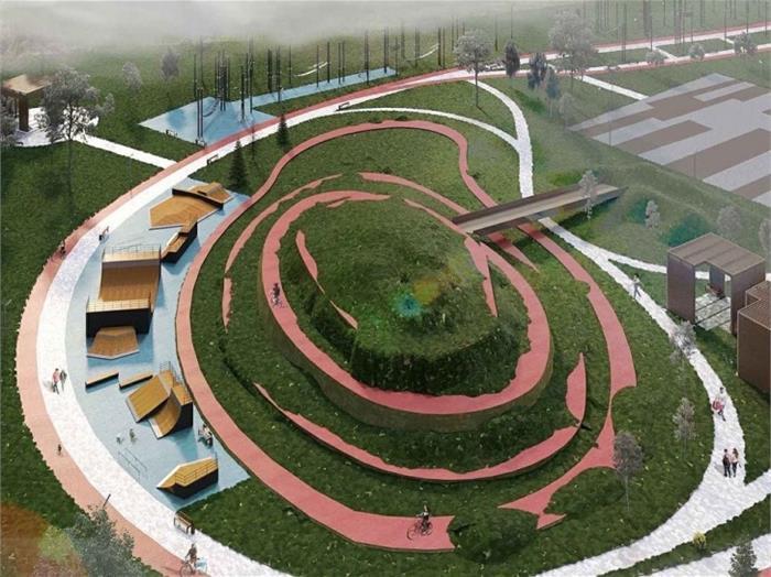 Заброшенный парк в Челябинске преобразуют в современное общественное пространство 1