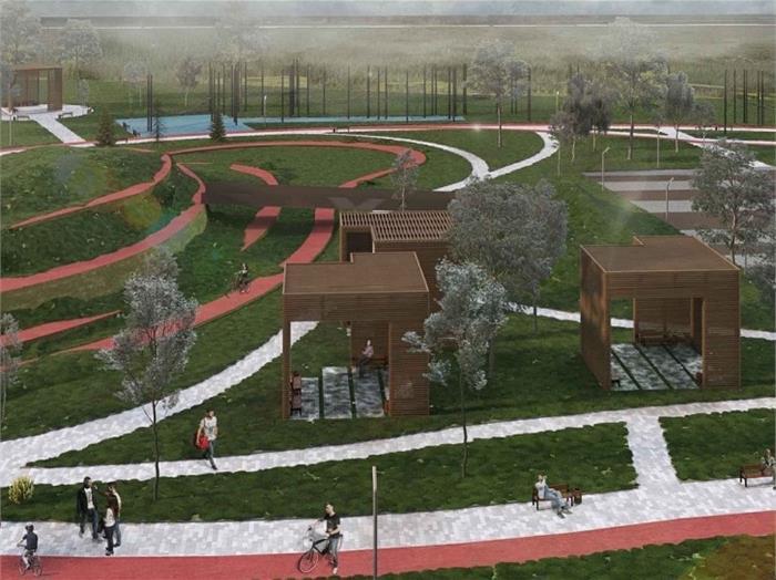 Заброшенный парк в Челябинске преобразуют в современное общественное пространство 2