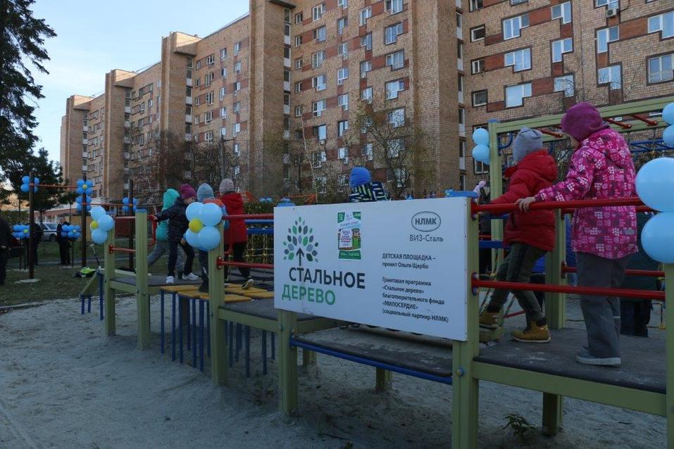 Детская площадка по программе «Стальное дерево»