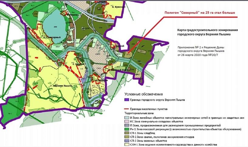 Карта нового полигона