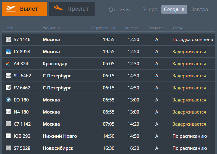 В Челябинске нарушена работа аэропорта 1