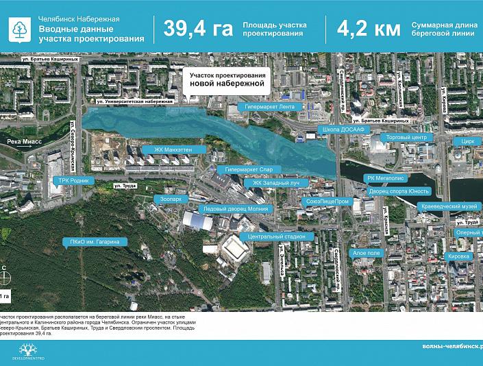 Челябинские девелоперы представили проект 100-километровой набережной реки Миасс 1