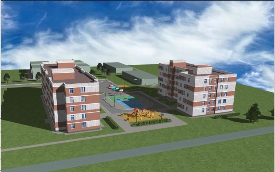 Такой дом построят в Верхней Синичяхе для переселенцев из аварийного жилья