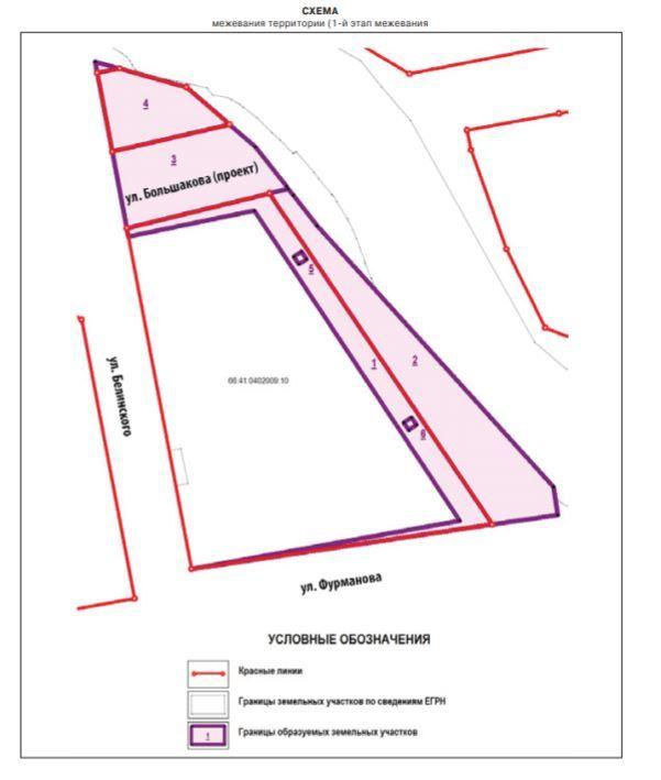 Схема межевания первого этапа