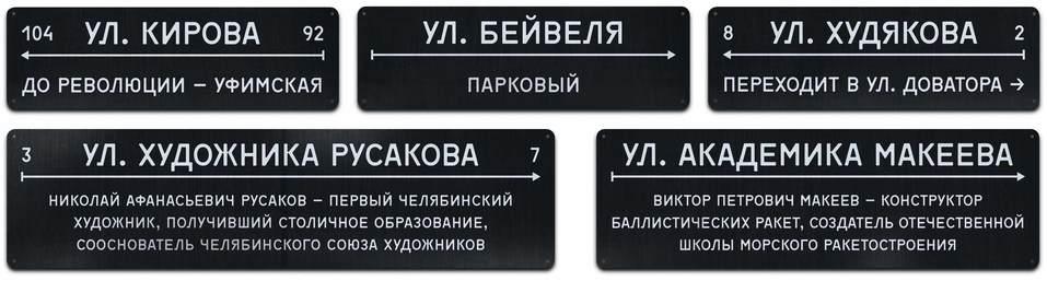 Дизайнер против чиновника: в Челябинске назревает скандал вокруг новых адресных табличек  1