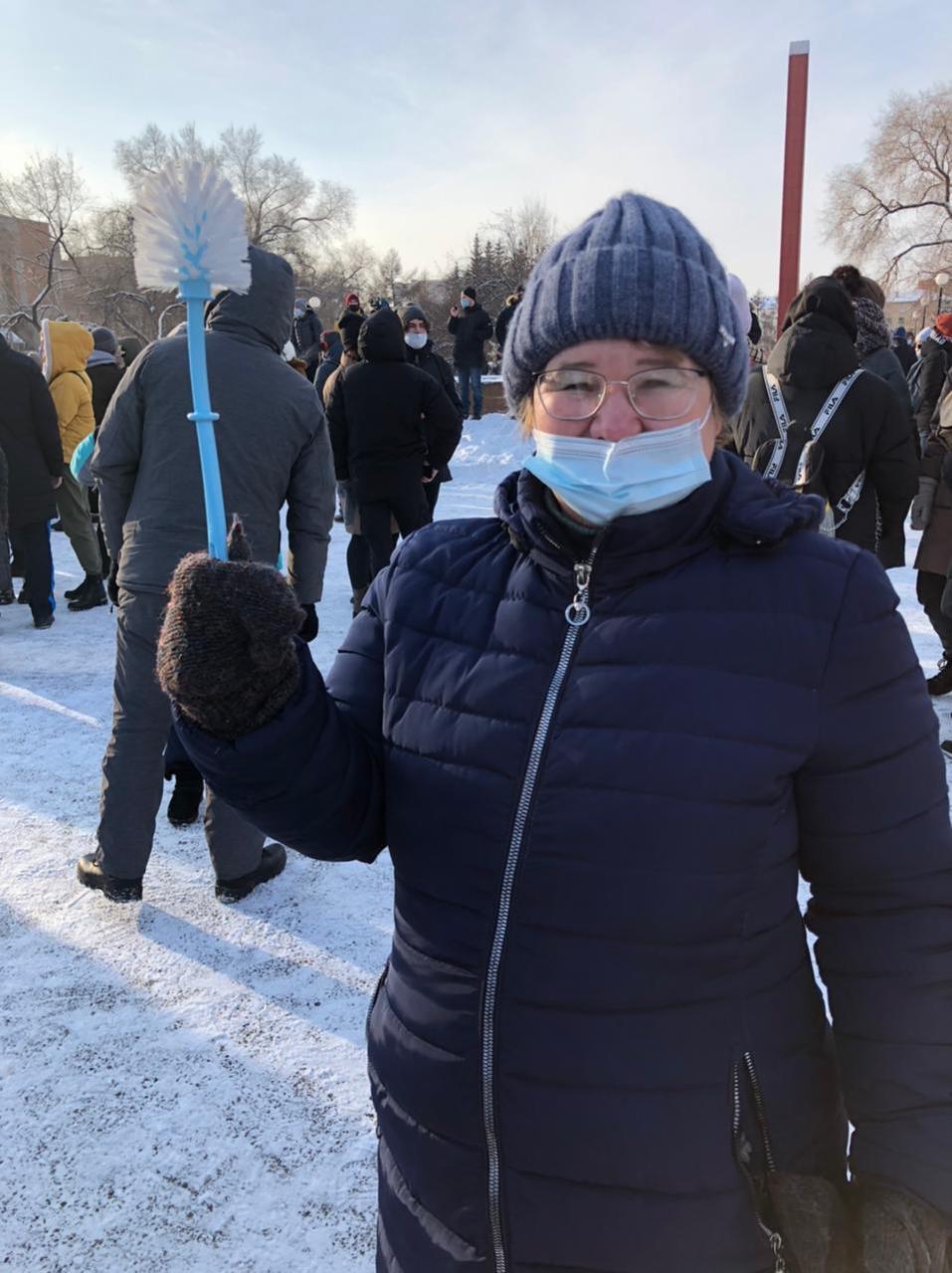 В Красноярске началась акция в поддержку Навального 1