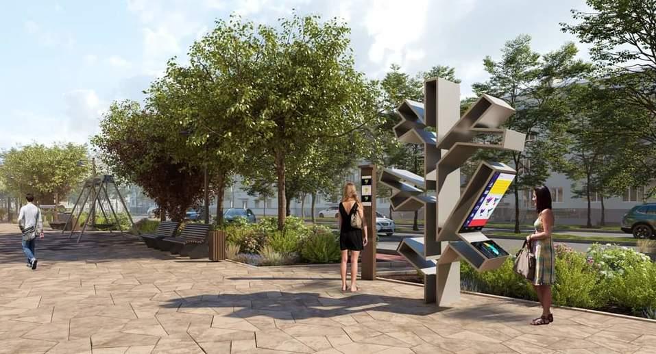 Велосипедная дорожка, скульптуры птиц и парковка: в центре Челябинска появится сквер 2