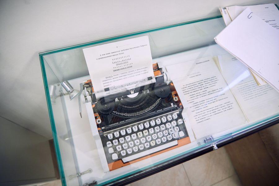 Печатная машинка, на которой создавалась Конституция