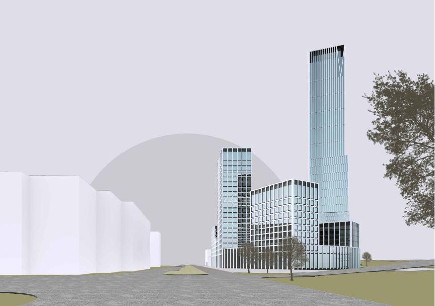 В центре Челябинска планируют построить 55-этажный небоскреб на месте исторических зданий 1